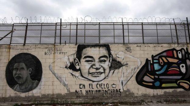 Muro de concreto en Tijuana