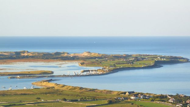 Mochras, known as Shell Island, near Llanbedr