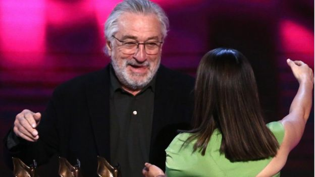 Robert DeNiro at an awards ceremony