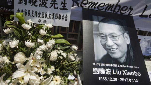香港市民悼念刘晓波