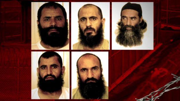 Top, left to right: Mohammad Fazl, Mohammad Nabi Omari and Mullah Norullah Noori. Bottom left to right: Abdul Haq Wasiq and Khairullah Khairkhwa