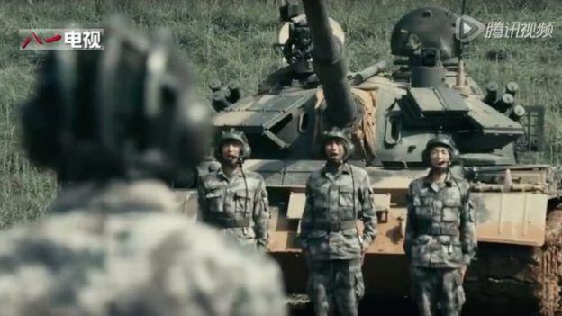 A still from a PLA rap recruitment video