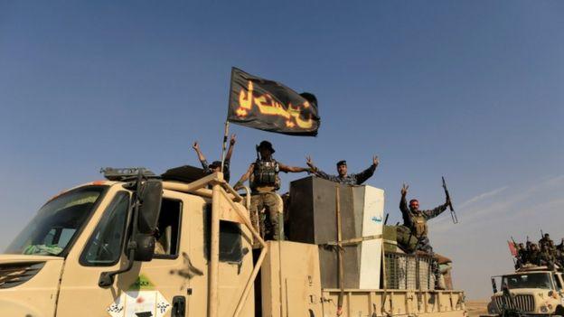 شبهنظامیان شیعه در ائتلاف به رهبری آمریکا برای بیرون راندن گروه موسوم به دولت اسلامی (داعش) نقش مهمی داشتند