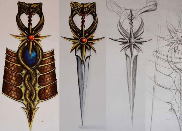 Sand snaker bracelet dagger design