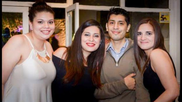 Los hijos de Olga: Antonella, Estefania, Esteban y Silvina.