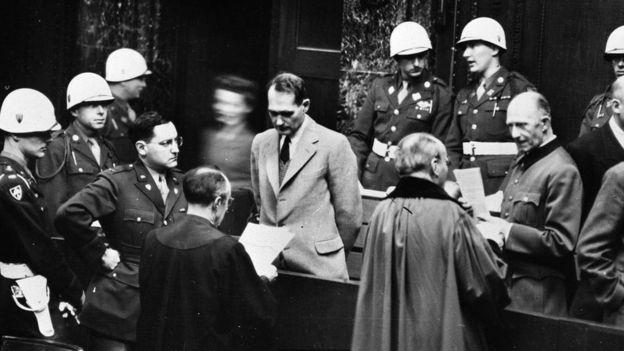 Rudolf Hess em seu julgamento