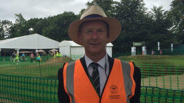 Martin Swan at Wimbledon
