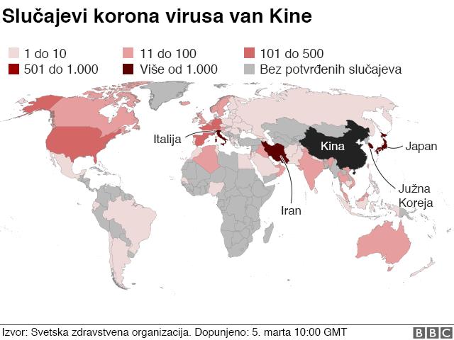 Korona širom sveta