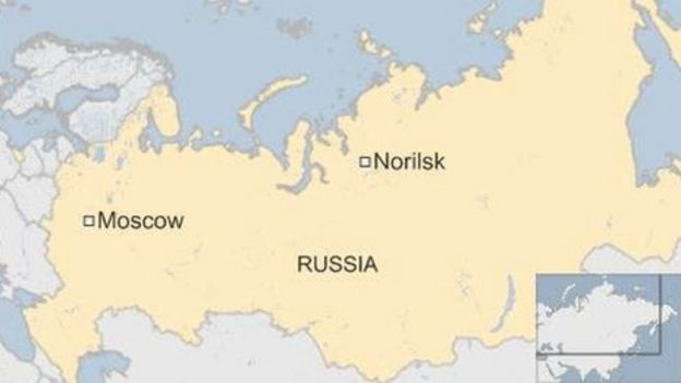 Russias Norilsk Nickel Admits Red River Responsibility BBC News - River in russia