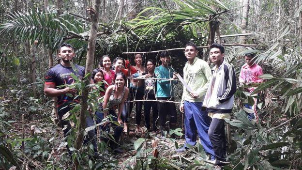 Alunos na Amazônia