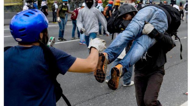 Protesto na Venezuela, em 8 de maio
