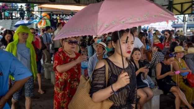 Du khách Trung Quốc ở Nha Trang