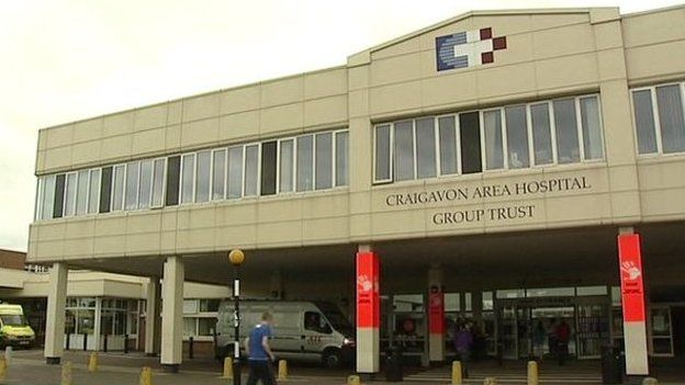 The man was airlifted to Craigavon Area Hospital