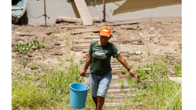 Comunidades ribeirinhas da região do Médio Solimões, na Amazônia Central: