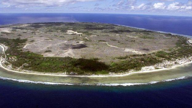 An aerial photograph of Nauru: The world's smallest republic
