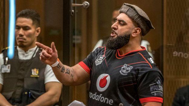 Ahad Nabi is seen during the sentencing hearing for Christchurch mosque gunman Brenton Tarrant