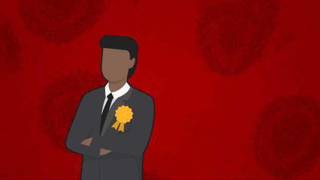 Ilustração de um político