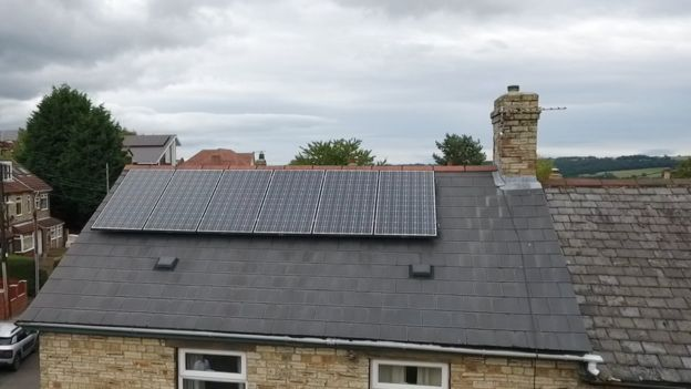Solar panels on Brian Thompson's house