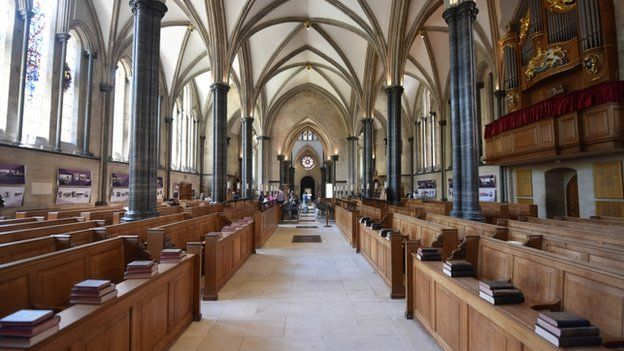 Interior of Temple Church, City of London