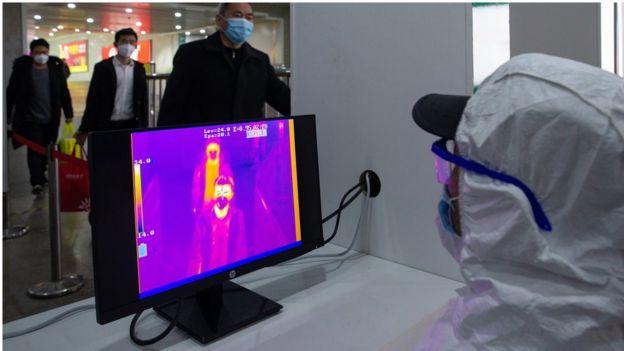 Un sistema de detección de fiebre en China