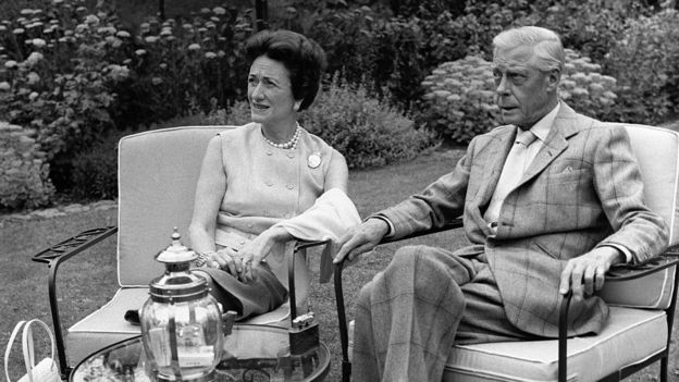 El duque y la duquesa de Windsor en su casa de retiro en Francia