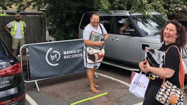 Banquet Records' car park collection point