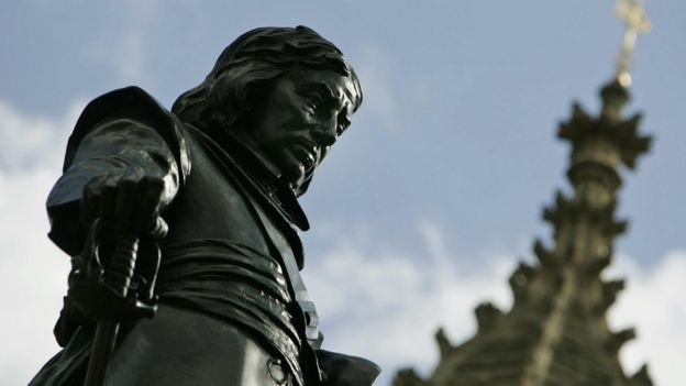 Oliver Cromwell's statue outside Parliament