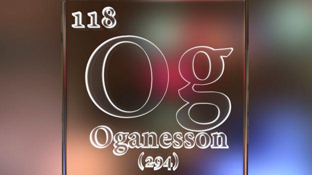 Gráfico del elemento 118, oganesón