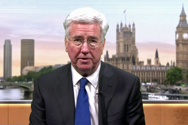 Michael Fallon, secretario de Defensa de Reino Unido