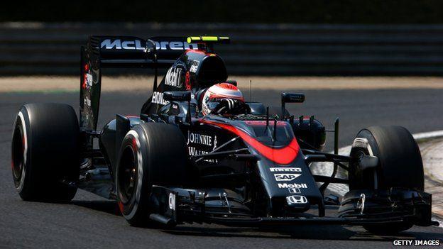 Jenson Button in his McLaren car