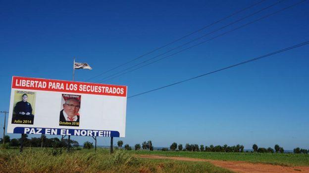 Aviso de secuestrados en Paraguay