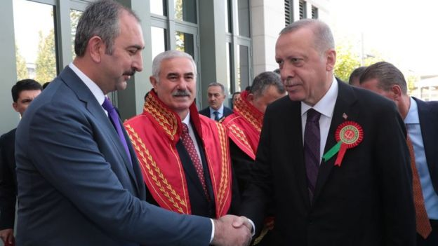 Adalet Bakanı Abdülhamit Gül ve Cumhurbaşkanı Recep Tayyip Erdoğan