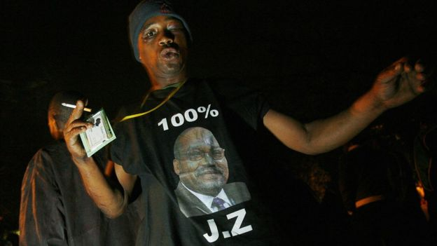 2663d00ef5a South Africa s ruling party ANC president Jacob Zuma s supporters sing and  dance on August 3