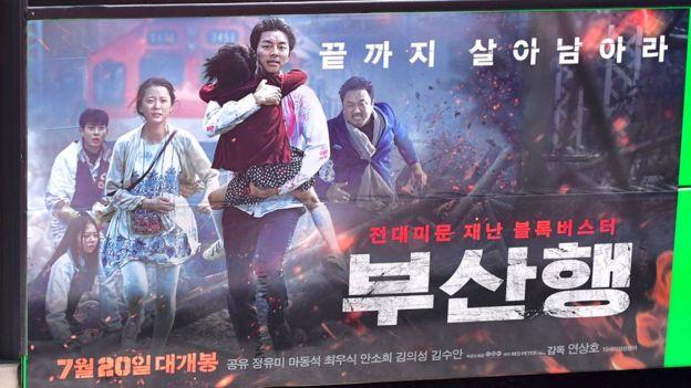 2016年韓片《屍速列車》(香港譯《屍殺列車》,中國譯《釜山行》)韓國破千萬觀影人次,海外也熱賣。