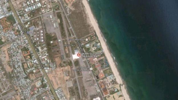 Vị trí khu vực đất được những 'người nước ngoài giấu mặt' mua nằm gần đường Võ Nguyên Giáp và sân bay Nước Mặn