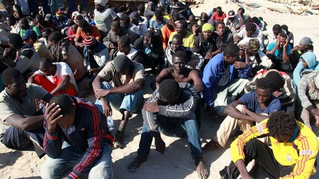 Abimukira bari muri Libya, 2014