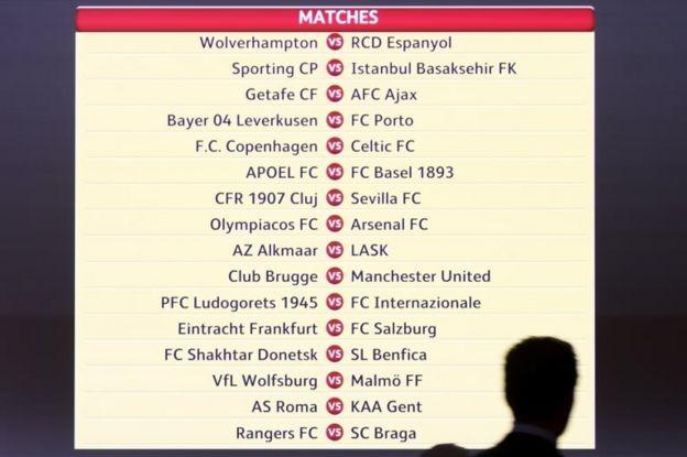 UEFA Avrupa Ligi eşleşmeleri