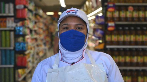 Trabajadora argentina.