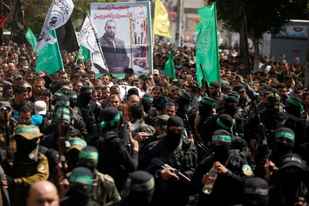 Funeral of Mazen Fuqaha in Gaza City, 25 March