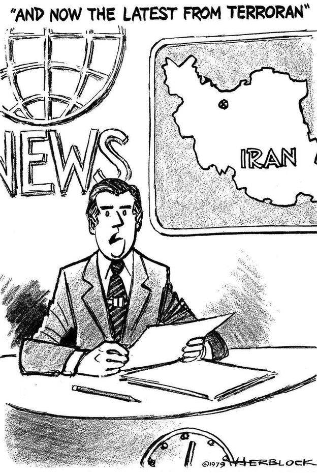 Iran-US relations: Nine cartoons tell the story - BBC News