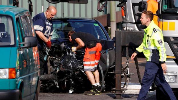 Crash scene in Berlin