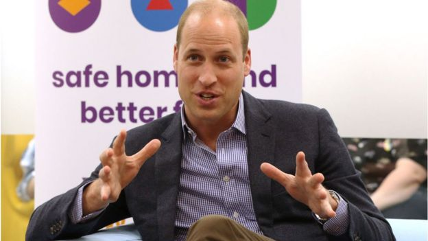 Prince William talking at an AKT event