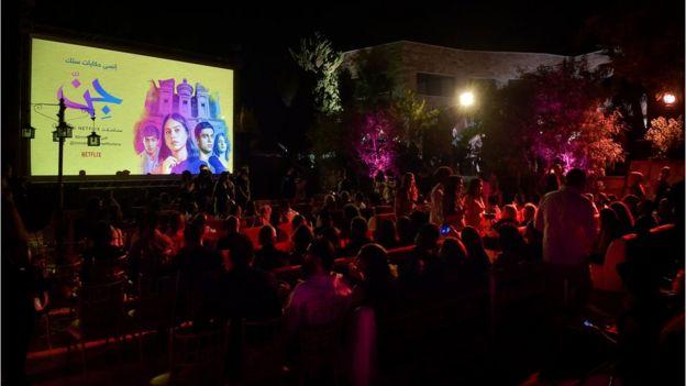 مهمانی انتشار سریال در امان (اردن)