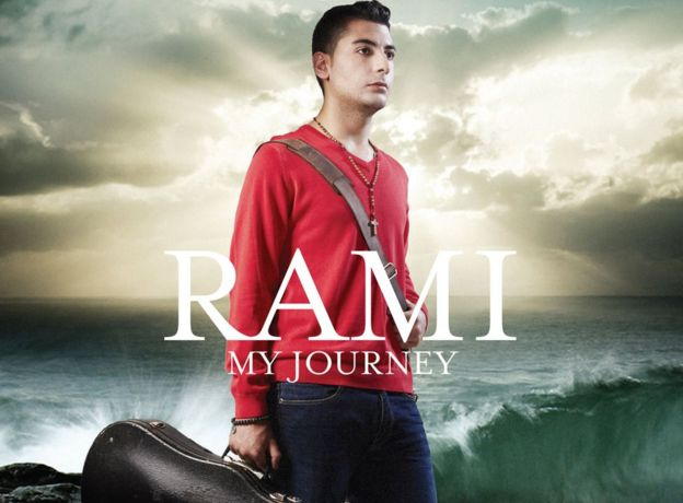 Front cover for the album by Syrian refugee Rami titled My Journey