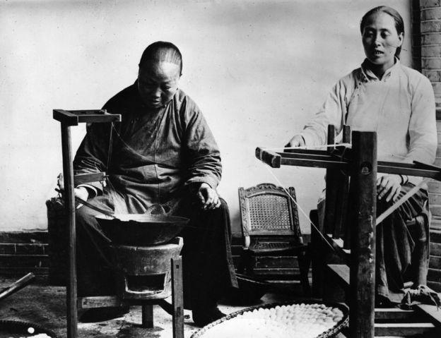 Trabalhadoras chinesas por volta de 1912