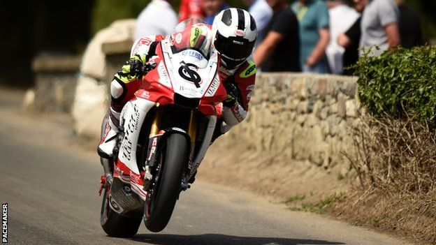 William Dunlop in practice action at the Skerries 100 on Saturday