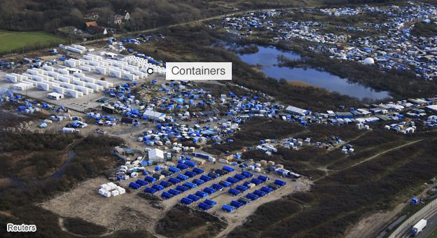 View of containers at Jungle camps