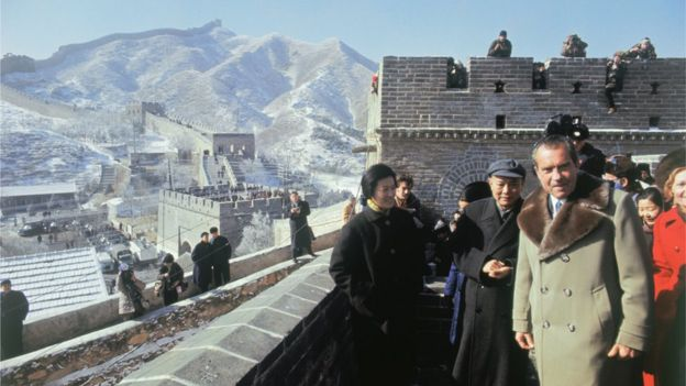 Nixon on the Great Wall.