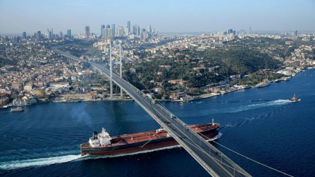 Turkey country profile bbc news istanbuls iconic bosphorus bridge links asia and europe publicscrutiny Image collections