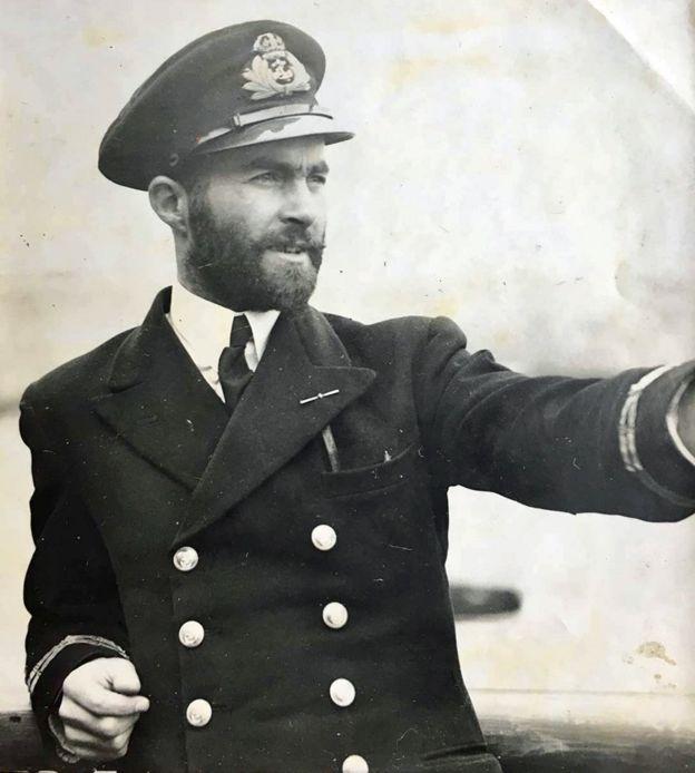 Guy in a Royal Navy uniform